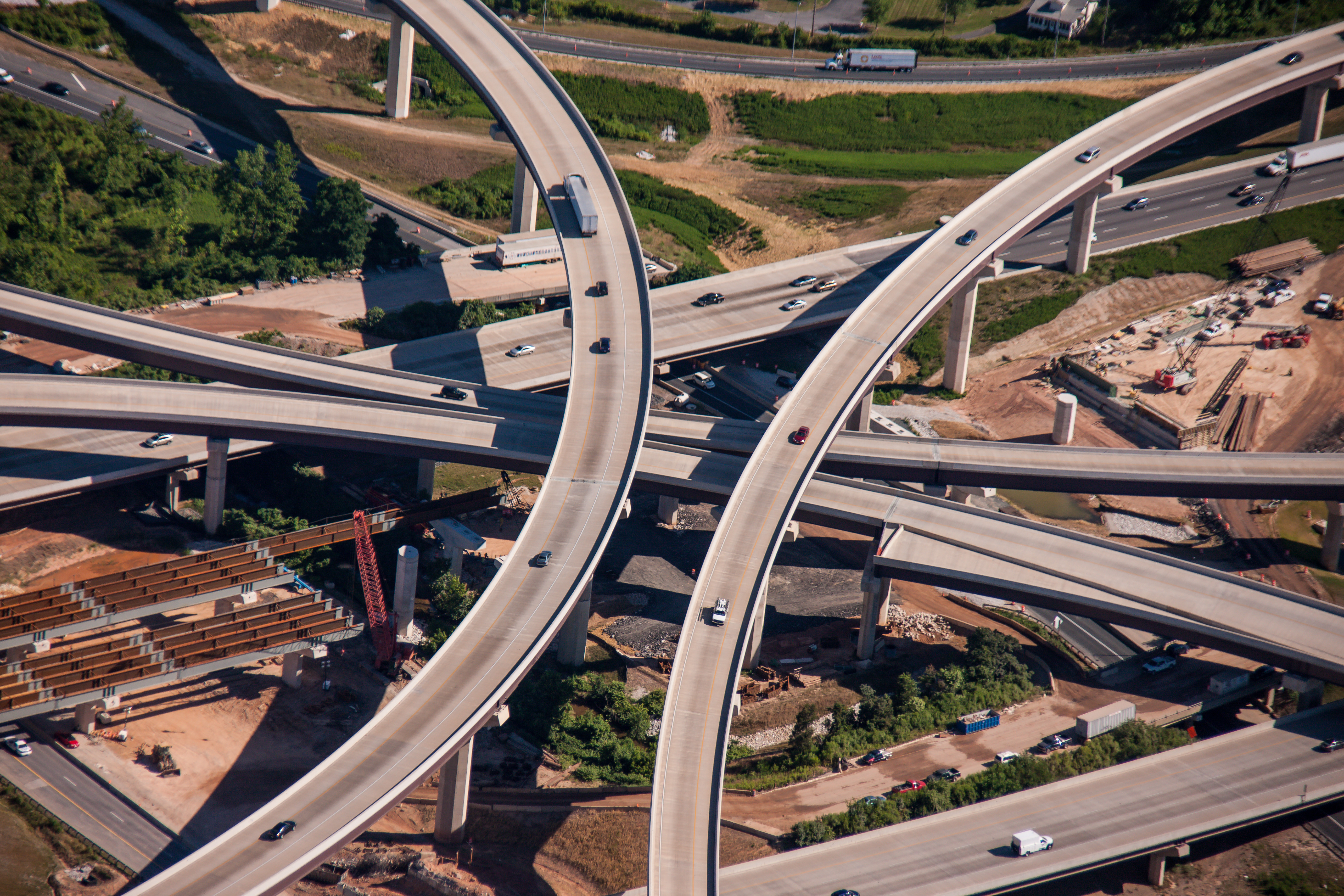 Baltimore Beltway interchange at I-95 by Jeffrey Sauers of Commercial Photographics